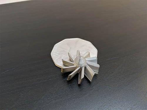 piece metal X 2
